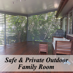 Safe and Private Outdoor Family Room