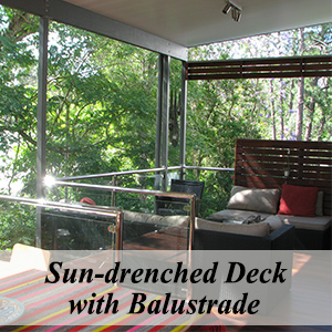 Sun-drenched Deck with Balustrade
